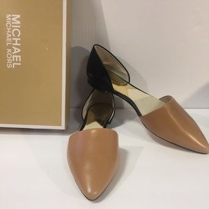 [Michael Kors] flats shoes two tone black brown